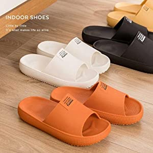 Soft Open Toe House Slippers