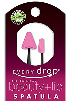 Close up of the Every Drop Beauty + Lip Spatula Combo pack