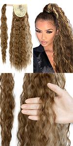 Afro Puff Kinky Curly Drawstring Ponytail Bun