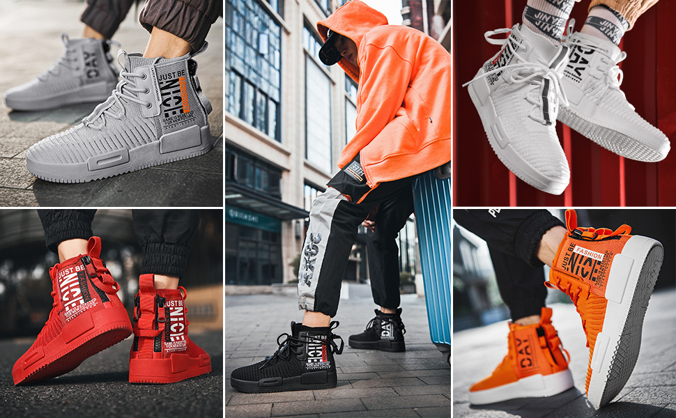 AIALTS Mens High Top Warm Fashion Boots Sneaker,Youth Sports And Outdoor Plus Velvet Road Running Walking Athletic Trainers Shoes