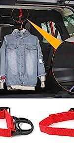 Roll Bar Coat Hanger Clothes Hook for Jeep Wrangler CJ YJ TJ LJ JK JKU JL JLU JT