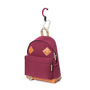 heroclip smal with a backpack hanging daypack