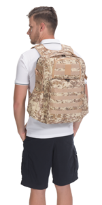 Brown Camo Military Backpack