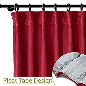 pleat tape curtain