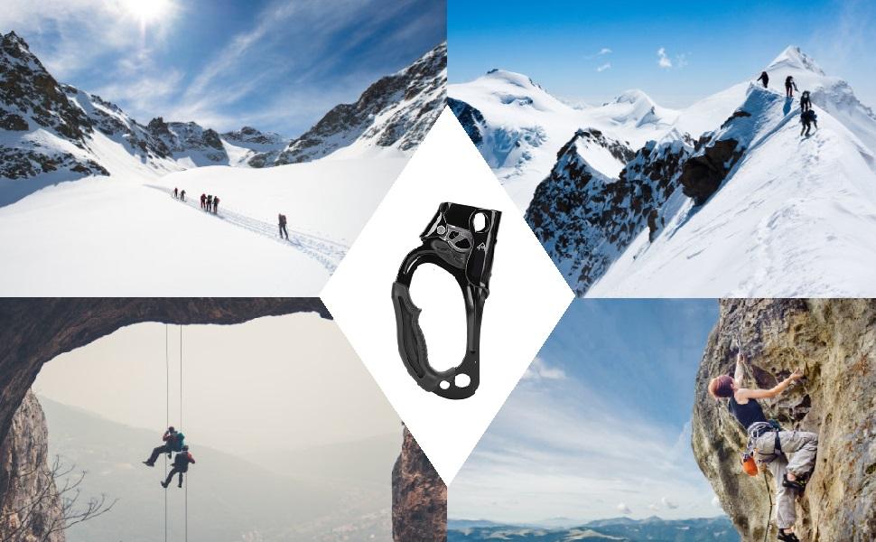 Ascenso de la Mano Ascender Ascender Alpinismo Montañismo Escalada en Roca Árbol Arborista Equipo de Engranaje de Rappel Abrazadera de Cuerda para ...