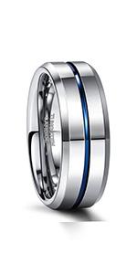 Silver Tungsten Rings