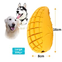 PET-FUN Large Dog Mango Chew Toy