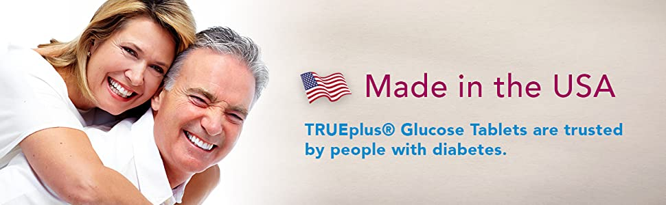 Made in USA Glucose Tablets Trueplus True Plus Diabetic Supplies Diabetes Supplements
