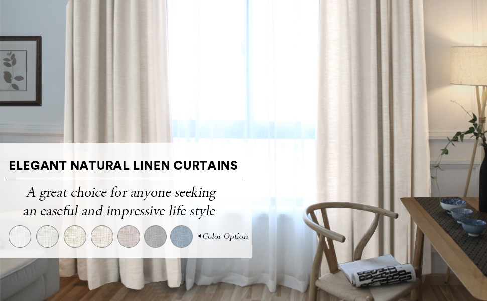 natural linen curtains for living room