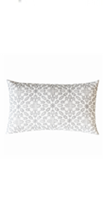gray rectangular pillows