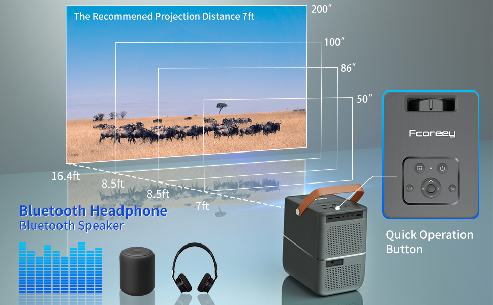 bluetooth projector