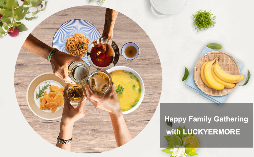 Happy Family Gathering with LUCKYERMORE Table Set