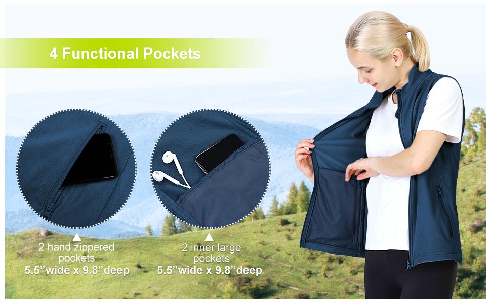 fleece vests with pockets