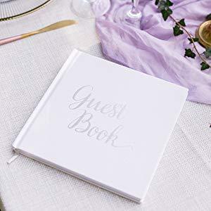 silver wedding guestbook