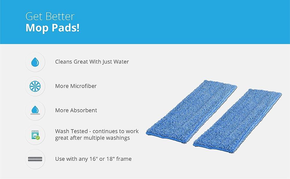 18 inch Professional Microfiber Mop Pad Refills