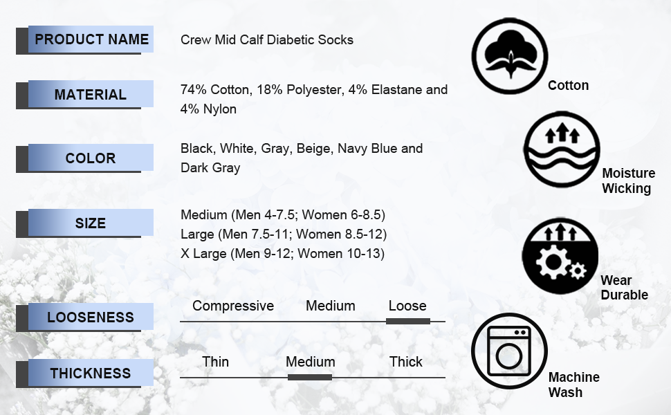 crew diabetic socks