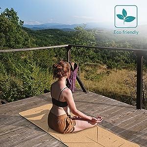 natuurlijke biologisch afbreekbare kurk yogamat