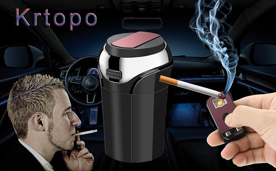 Auto Aschenbecher Abnehmbare Auto Zigarettenanzünder Mit Blauen Licht Rauchfreien Usb Ladekabel Auto