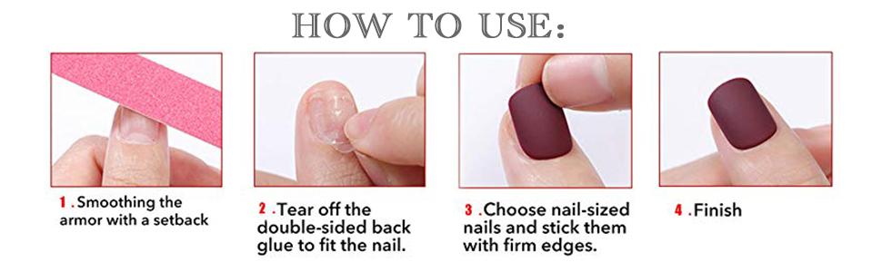 acrylic nail clip press on nails