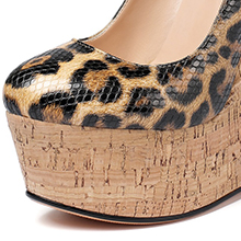 wooden wedge heel shoes with thick platform