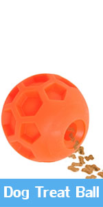 Large Dog Treat Ball, Dog IQ Puzzle Toy, Interactive Food Dispenser to Slow Feed Best Toy
