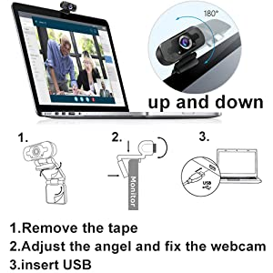 Konferenzen USB Full HD Webkamera mit Clip f/ür Laptop//PC//Desktop Studieren USB 2.0 HD Widescreen Webcam mit Automatischer Lichtkorrektur f/ür Videoanrufe EasyULT Webcam 1080P mit Mikrofon