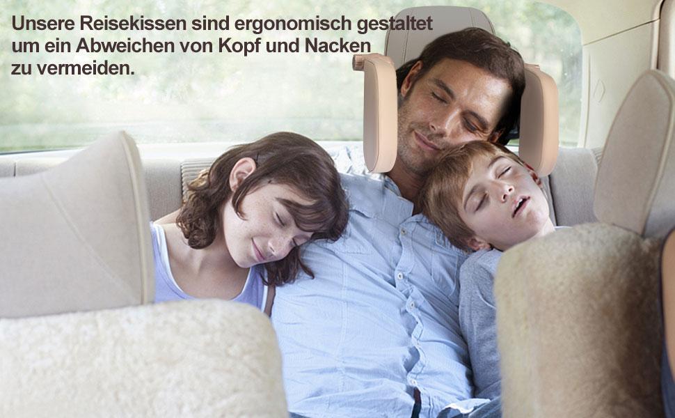 99native Nackenst/ütze Autositz Kopfst/ütze,Nackenkissen Auto Kissen 3D Memory Foam Weiche atmungsaktive Sitz Kopfst/ütze Pad Nackenst/ütze Kopfst/ütze Zubeh/ör f/ür Erwachsene Beige