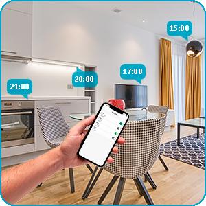 Intelligent wifi-stopcontact draadloos Alexa Google Assistant, afstandsbediening