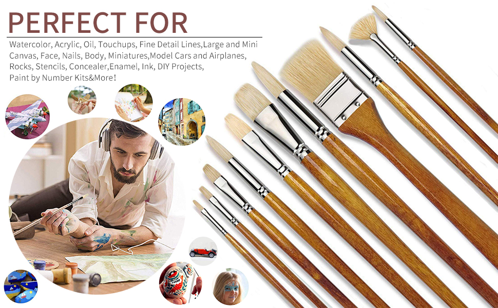 watercolor paintbrush set