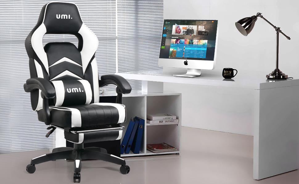 UMI Sedia Gaming Ufficio da Scrivania Poltrona Ergonomica ...