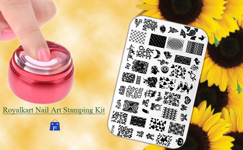 royalkart nail art stamping kit
