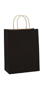 "BagDream 8X4.25X10.5"" Black Gift Bags 50PCS"