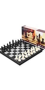 Schach Magnetischem Reise Faltbarem mit Aufbewahrungsbeutel Deluxe Schachbrett f/ür FamilieGeschenkReisen Peradix Schachspiel Magnetisch /& Dame Spiel /& Backgammon 3-in-1