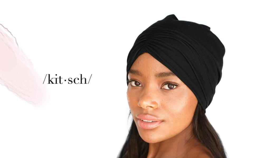 Frizz Free,OneFits All♡ Kitsch Premium Satin Lined Jersey Sleep Bonnet