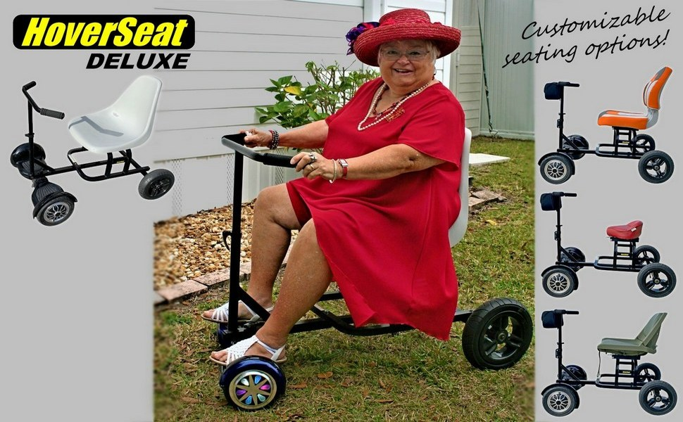 DELUXE SEATTING ATTACHMENT HOVERSEAT WITH HANDLE BAR AND MOLDED SEAT SALE