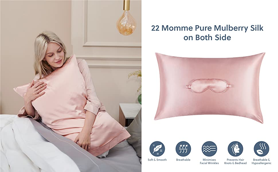 a premium silk beauty sleeping set made from mulberry silk