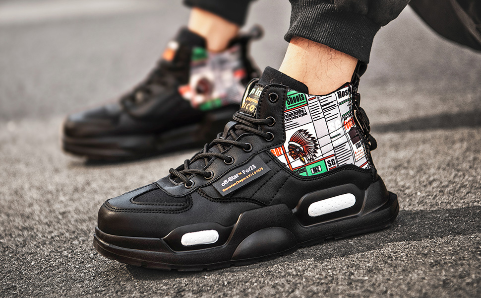 Scarpe Alte da Uomo Scarpe da Ginnastica alla Moda Sneakers