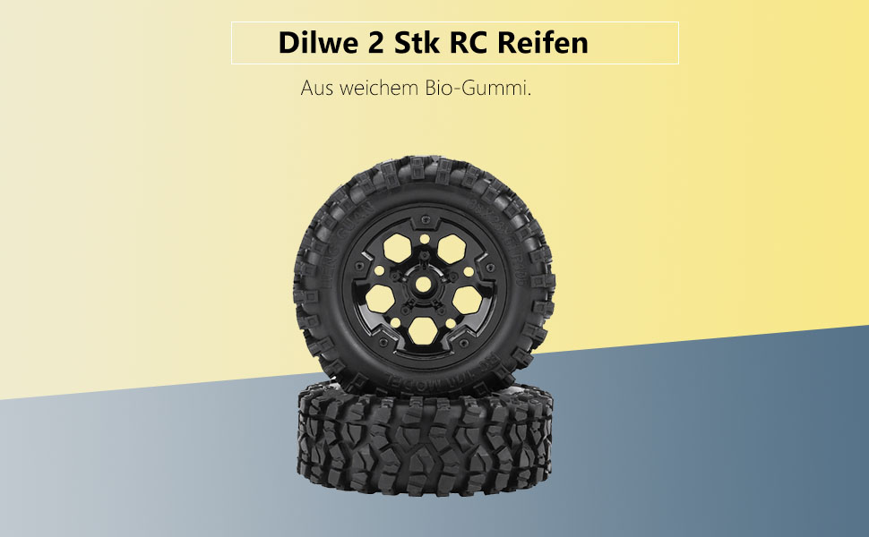 Dilwe 2 Rc Reifen Rc Auto Reifen Mit Rad Für Hg P402 P601 1 10 Rc Auto Crawler Jeep Spielzeug