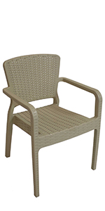 coffee outdoor plastic dining chair