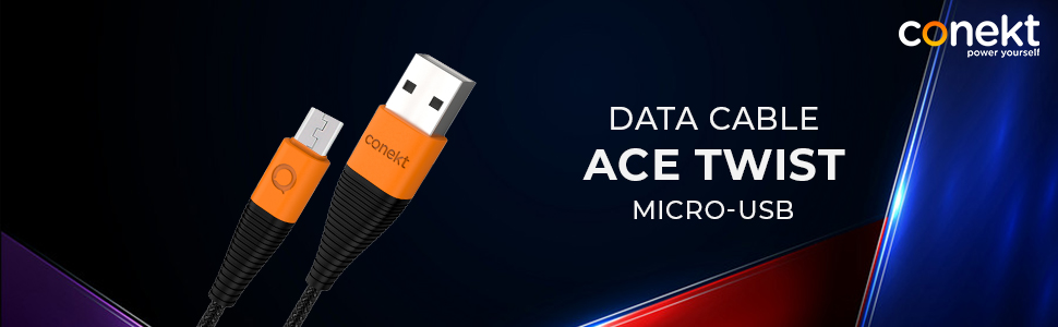 Conekt ACE - TWIST Micro USB Charging Cable