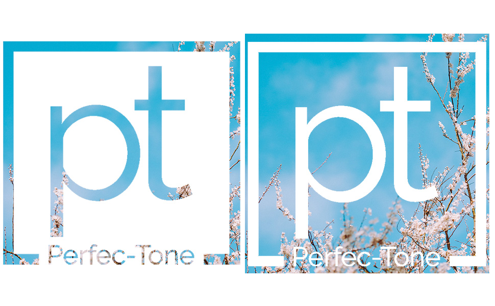 perfec-tone, logo, face, particles, skin,