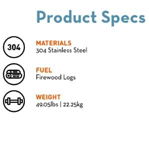 product specs yukon backyard bundle solo stove