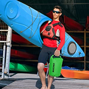 Paddle boarding dry bag
