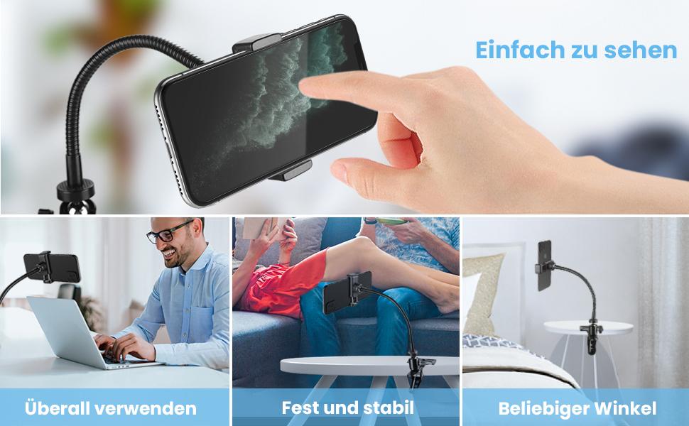 Zacro Schwanenhals Handy Handyhalterung Handyhalter Mit Elektronik