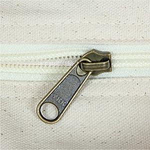 YKK Zipper canvas tote bag