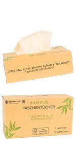 Weiche Taschentücher aus Bambus