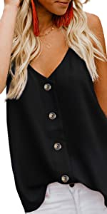 button down tank tops for women