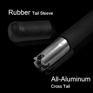 Rubber Tail Sleeve All-Aluminum Cross Tail