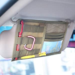 car accessory,vehicle accessory,visor panel,visor panel cover,tactical,molle,loop patch