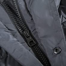 double zipper long coat winter jacket